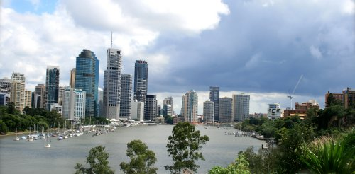 Melbourne: Yarra River in Central Business Distric
